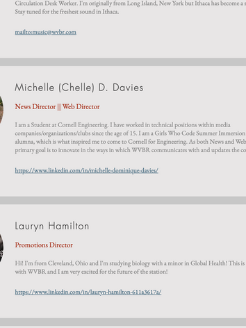 Executive Profile Cards - Desktop