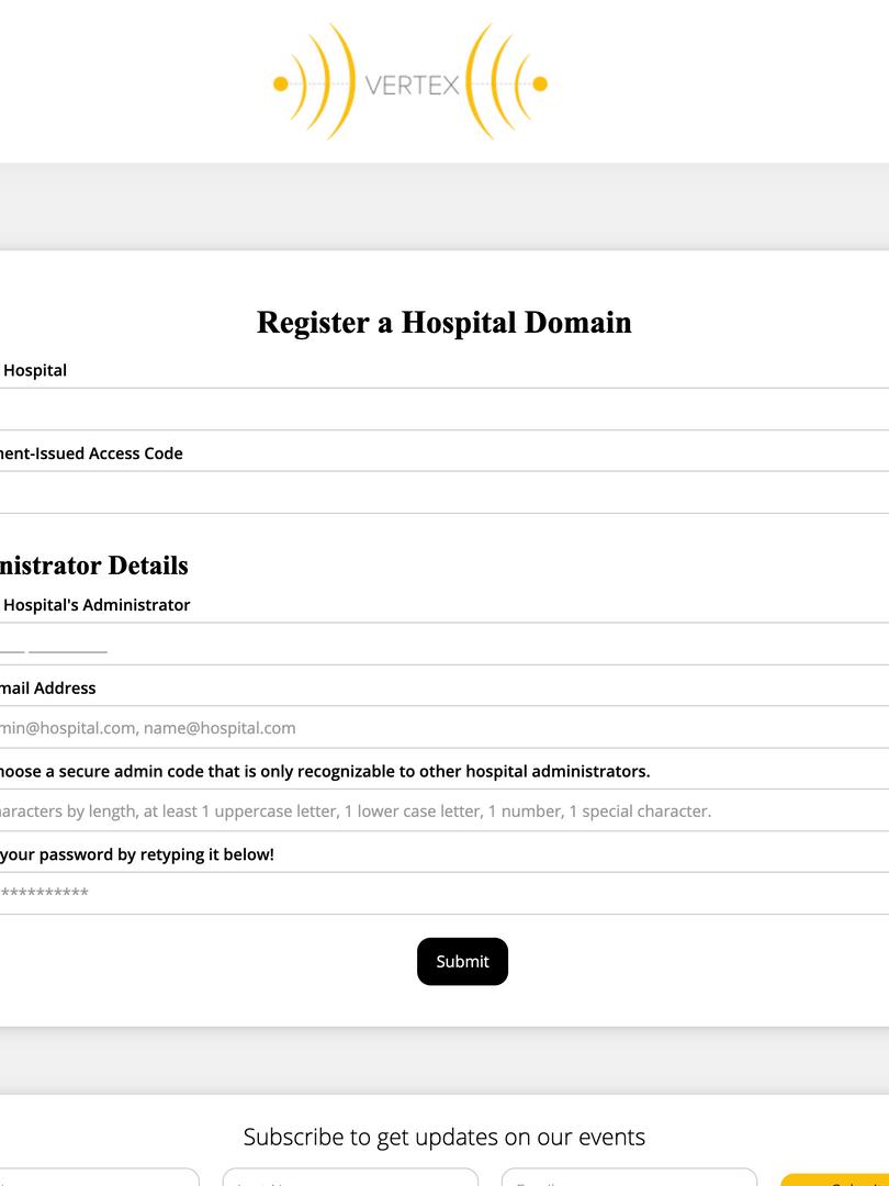 Hospital Portal - Register