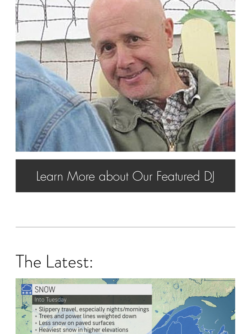 Featured DJs Display on Homepage - Mobile