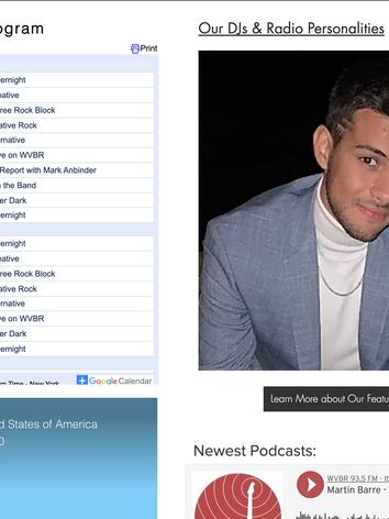 Featured DJs Display on Homepage - Desktop