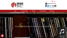 During my term as Web Director of WVBR-FM, I single-handedly redesigned and updated the WVBR Website. The main coding I did for this project were HTTP scripting and Javascript to add even more functionality to this Wix website.