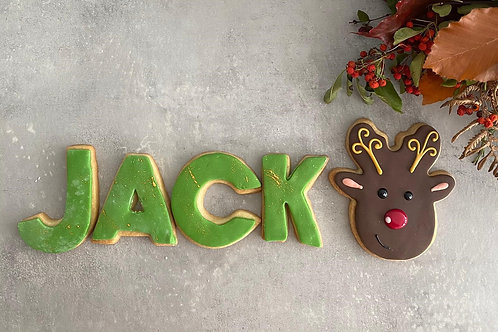 Christmas Name Biscuit Box