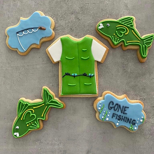 'Gone Fishing' Biscuit Box