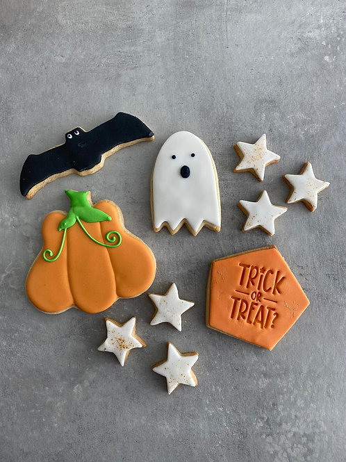 The Colourful Halloween Biscuit Box