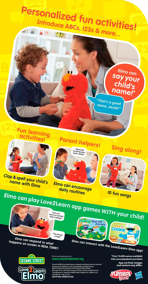 Love2Learn Elmo — package back