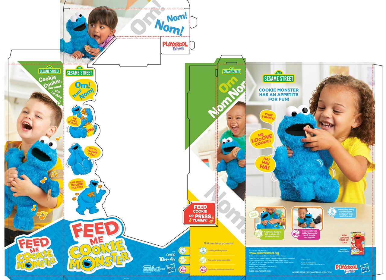 Feed Me Cookie Monster package