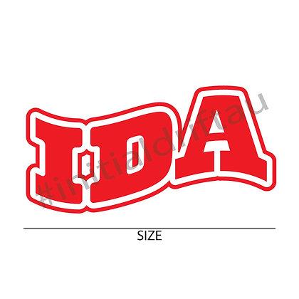 IDA Varsity Wave Vinyl Cut