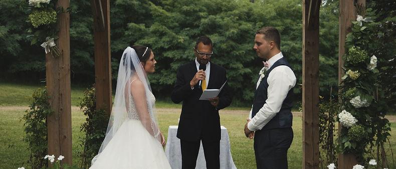 wedding ceremony in cambridge, ontario