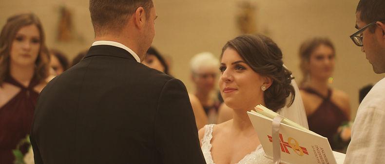 Cassie saying her vows to Ben