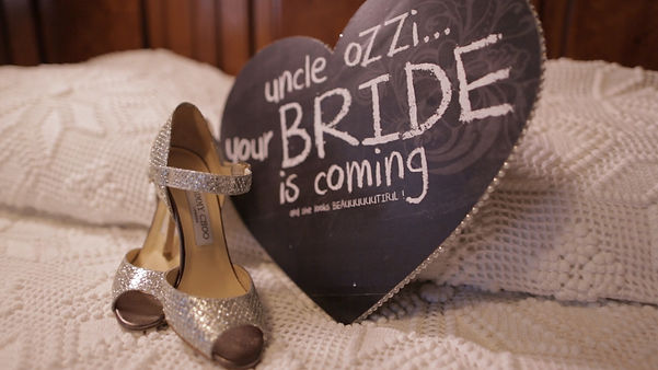 The bride's Jimmy Choo shoes