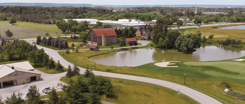 Beautiful aerial view of Piper's Heath Gold Club