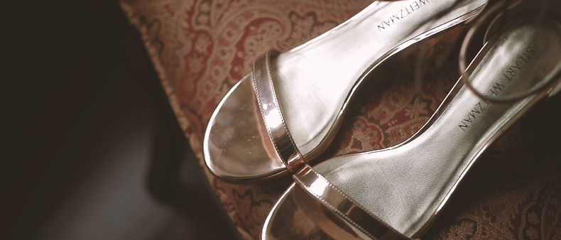Stuart Weitzman shoes at Jenny's getting ready location