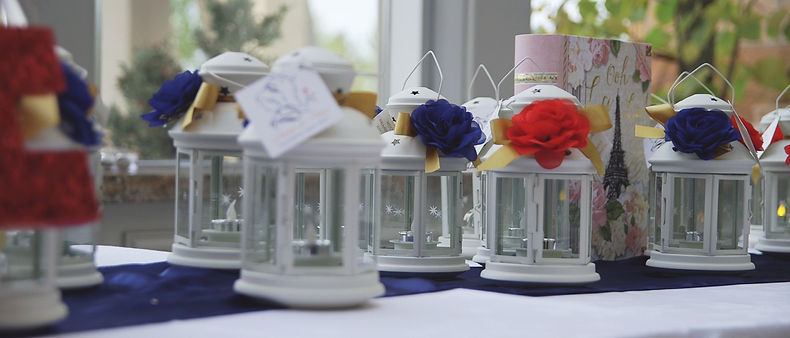 The decor details during the reception at Fontana Primavera.