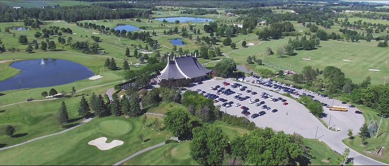 Beautiful aerial view of the Cardinal Golf Club, in King city, Ontario.
