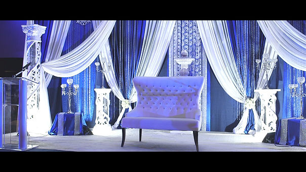 Gorgeous decor at the stage for Jos and Nibha's reception.