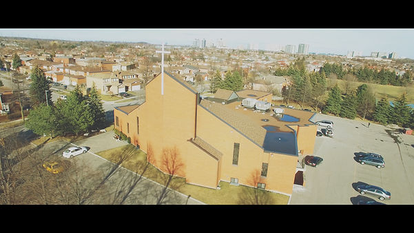 A beautiful drone shot of the St Joseph the Worker church.
