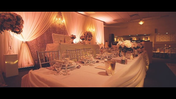 A beautiful shot from Emily and Steven's head table.