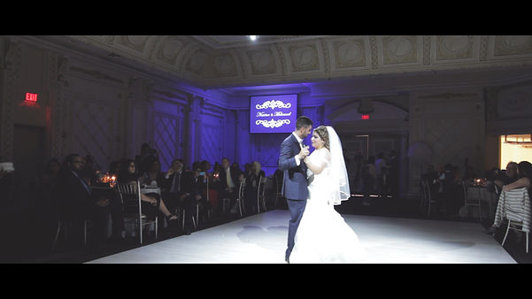 The couple's first dance. Always a memorable moment, captured by two cameras and two cinematographers.