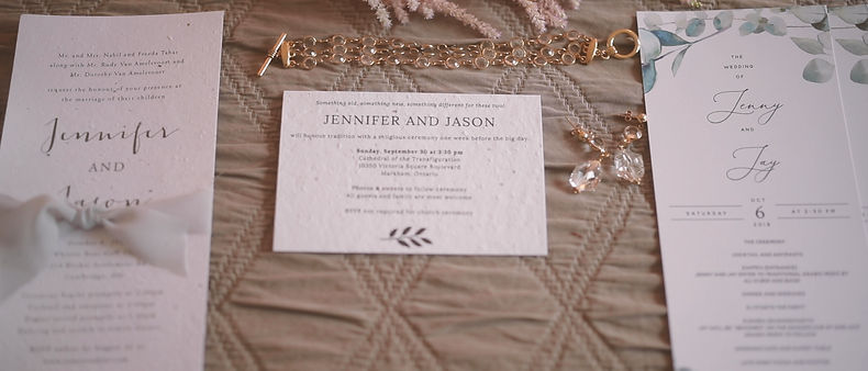 Wedding cards and invitations