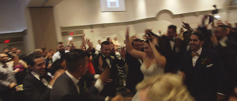 A great shot of the fun atmosphere happening during Anna & Peter's reception.