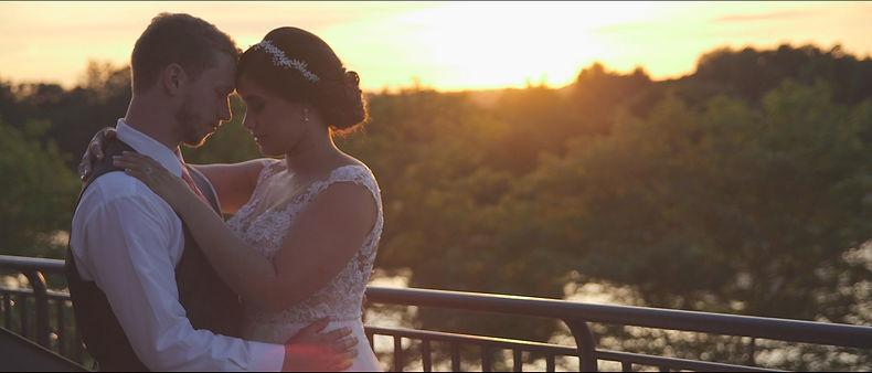 The couple takin photos at sunset time at Cardinal.