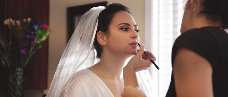 Anna during her make-up session in the morning.