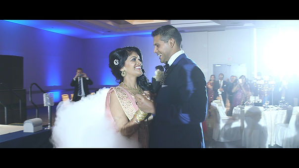 Josh and Nibha dance their first dance together as husband an wife.