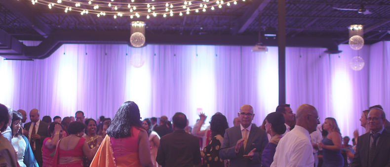 Inside the York Mills Gallery venue at Johann and Sabina's reception.