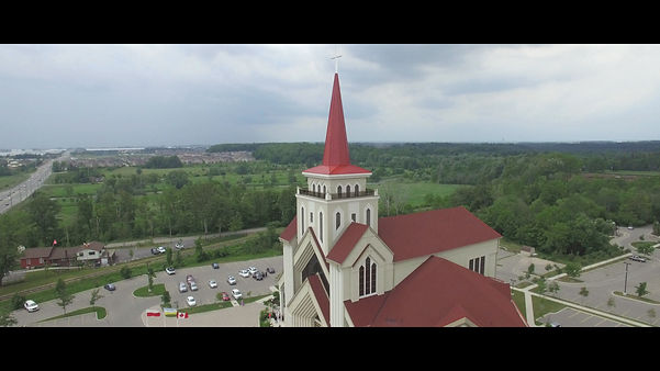 A powerful drone shot from Eugene de Mazenod church.