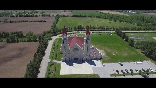 The beautiful Croatian church seen from above.