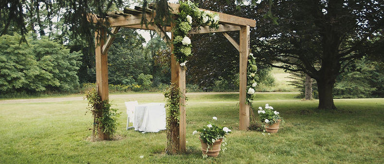 From the potty shed wedding ceremony