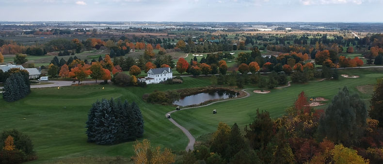 Beautiful aerial view of Greystone Golf Club, in Milton, Ontario