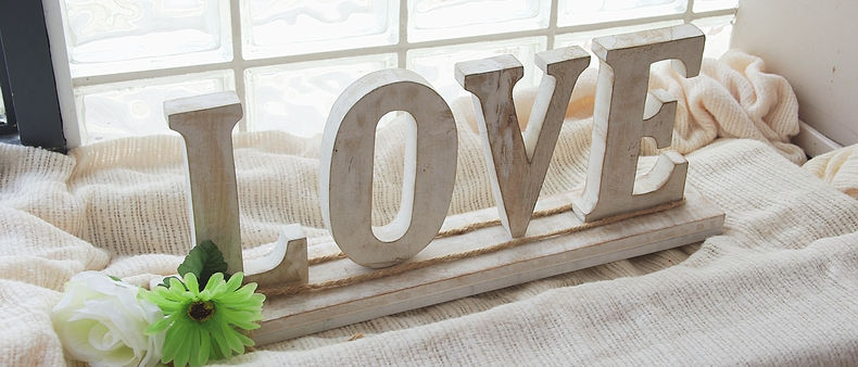 """""""Love"""" sign at the church's entrance."""