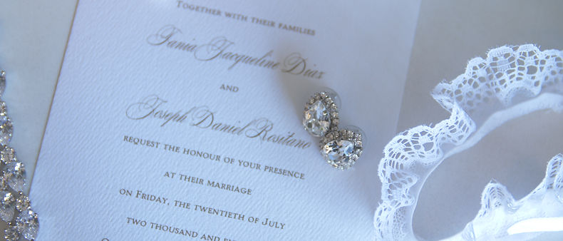 Wedding invitation and other details.