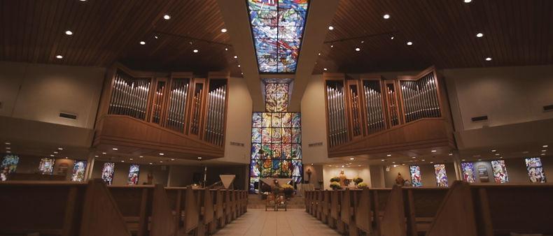The interior of St. Patrick's parish in Markham, Ontario