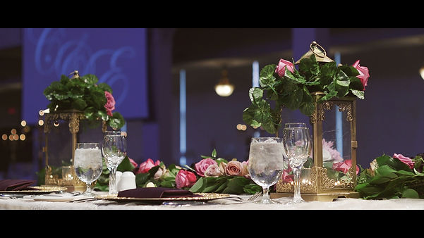 The head table from Ebram and Christine's reception