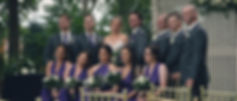 The entire bridal party shot at the Garden Pavilion at Club Roma banquet hall