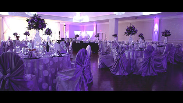 The details of the couple's reception at Le Dome Banquet Hall.