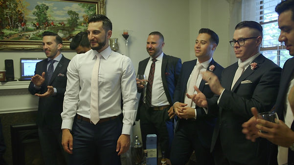 The groomsmen participate in the traditional Cyprian/Greek traditions in th morning of the wedding.