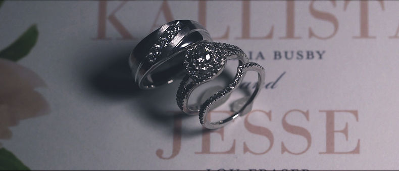 Beautiful wedding bands and invitation shot with the Panasonic GH5 with VLOG.
