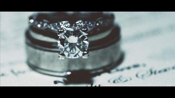 Emily and Steven's wedding rings.