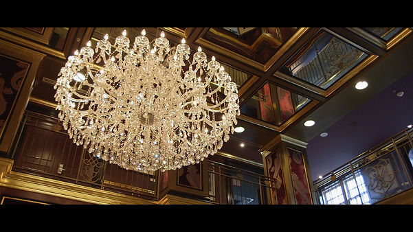 Beautiful chandelier inside the glamorous Windsor Arms Hotel, in downtown Toronto