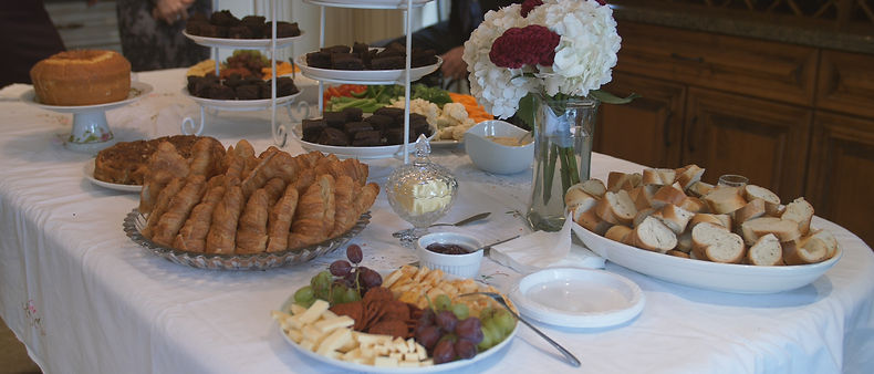 Breakfast at the bride's house