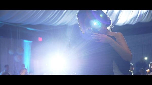 Beautiful backlighting during the couple's first dance.