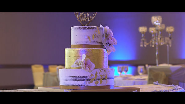 The couple's wedding cake.