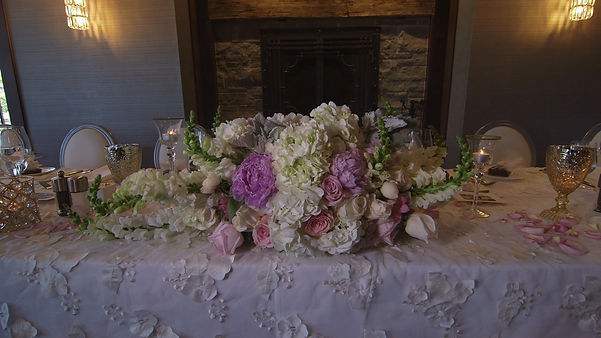 The head table from Marla and Chris' reception