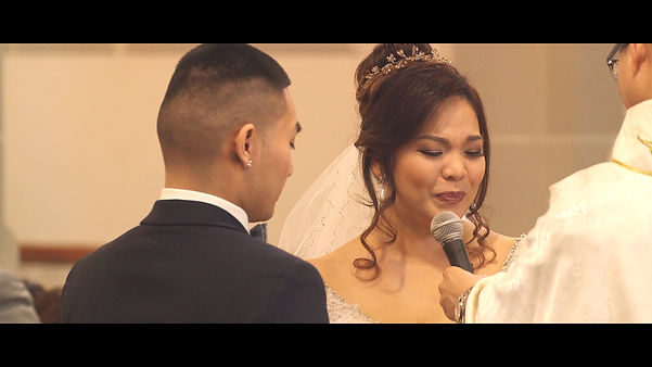 Dianne gets emotional during her vows.