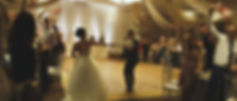 the couple make their way to the reception at Paragon Banquet hall.