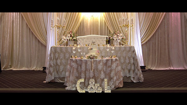 A video shot of the very nice head table, by our talented cinematographer.