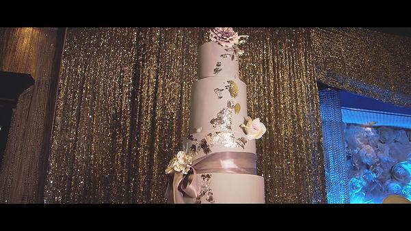 Allan and Phung's beautiful wedding cake
